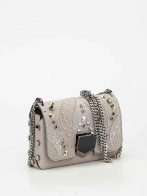 Jimmy Choo: cross body bags online - Lockett Petite embellished bag