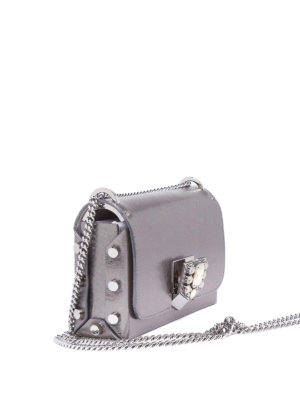 Jimmy Choo: cross body bags online - Lockett Petite metallic leather bag