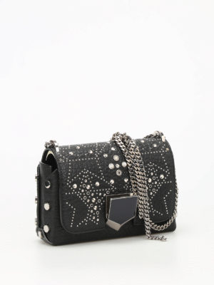 Jimmy Choo: cross body bags online - Lockett Petite studded leather bag