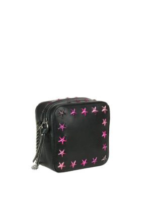 Jimmy Choo: cross body bags online - Sunny crossbody with fuchsia stars
