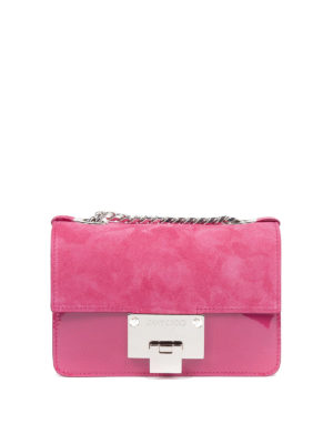 Jimmy Choo: cross body bags - Rebel Soft cerise mini bag