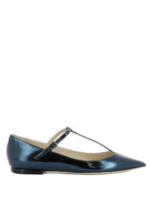 Jimmy Choo: flat shoes - Daria mirror leather flats