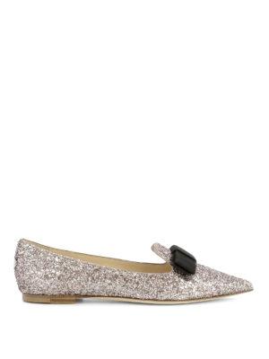 Jimmy Choo: flat shoes - Gala glitter flats