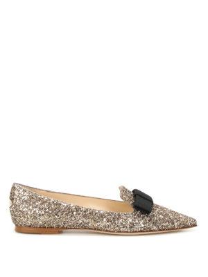 Jimmy Choo: flat shoes - Gala glittered flat shoes