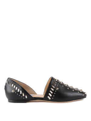 Jimmy Choo: flat shoes - Globe Flat shoes with punk studs