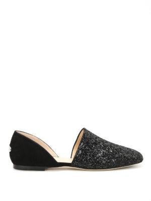 Jimmy Choo: flat shoes - Globe Flat suede and glitter flats