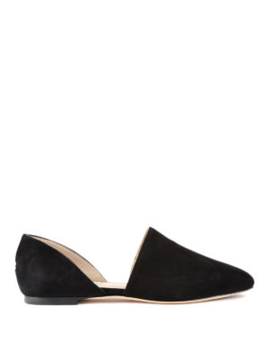 Jimmy Choo: flat shoes - Globe suede ballerinas