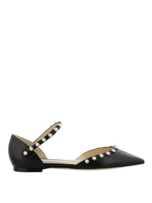 Jimmy Choo: flat shoes - Leema Flat nappa flats