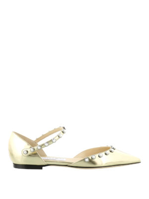 Jimmy Choo: flat shoes - Leema mirrored leather pointy flats