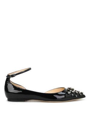 Jimmy Choo: flat shoes - Lucy Flat jewel patent shoes