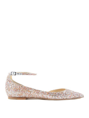 Jimmy Choo: flat shoes - Lucy glittered flats