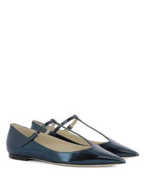 Jimmy Choo: flat shoes online - Daria mirror leather flats