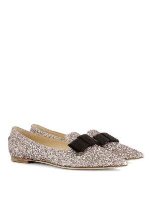 Jimmy Choo: flat shoes online - Gala glitter flats