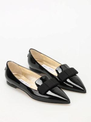 Jimmy Choo: flat shoes online - Gala patent leather flats