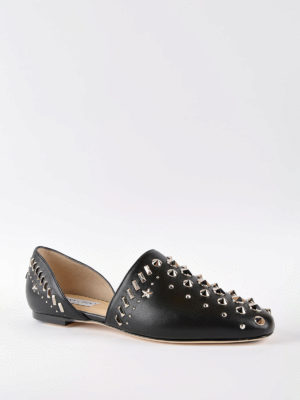 Jimmy Choo: flat shoes online - Globe Flat shoes with punk studs