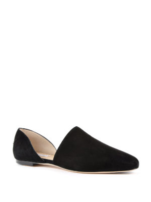 Jimmy Choo: flat shoes online - Globe suede ballerinas