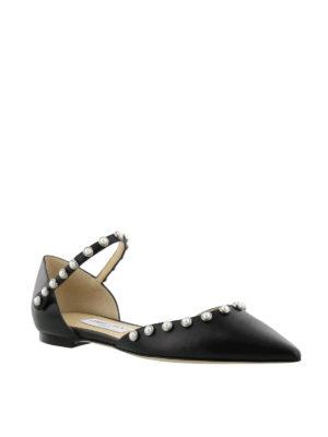 Jimmy Choo: flat shoes online - Leema Flat nappa flats