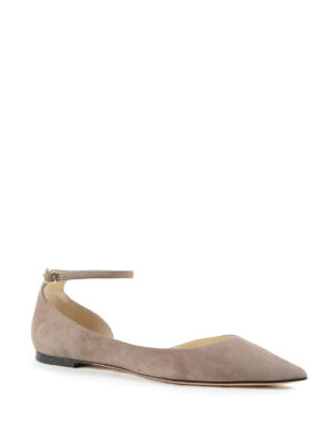 Jimmy Choo: flat shoes online - Lucy Flat ballerinas with strap