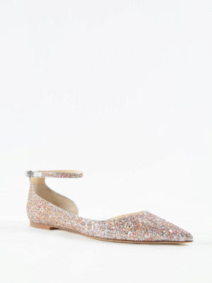 Jimmy Choo: flat shoes online - Lucy glittered flats