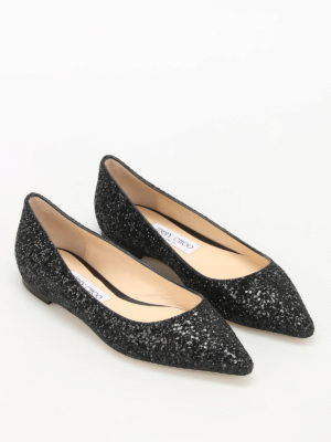 Jimmy Choo: flat shoes online - Romy faded glitter ballerinas