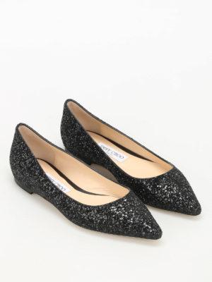 Jimmy Choo: flat shoes online - Romy faded glitter ballerinas