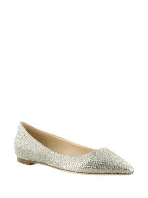 Jimmy Choo: flat shoes online - Romy Flat glitter ballerinas