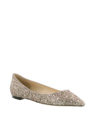 Jimmy Choo: flat shoes online - Romy Flat romantic ballerinas