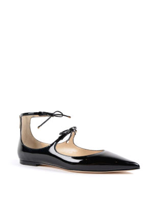 Jimmy Choo: flat shoes online - Sage patent leather ballerinas