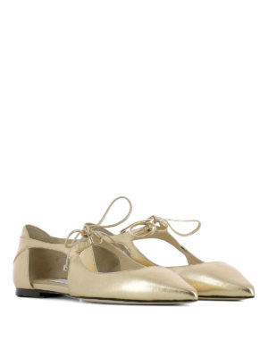Jimmy Choo: flat shoes online - Vanessa Flat leather ballerinas