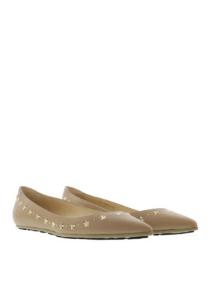 Jimmy Choo: flat shoes online - Windsor star embellished flats