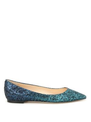 Jimmy Choo: flat shoes - Romy faded glitter ballerinas