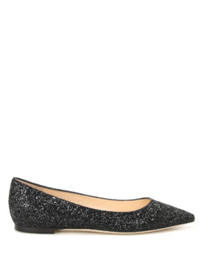 Jimmy Choo: flat shoes - Romy faded glitter ballerinas