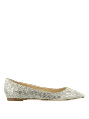 Jimmy Choo: flat shoes - Romy Flat glitter ballerinas