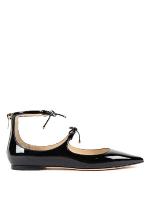 Jimmy Choo: flat shoes - Sage patent leather ballerinas