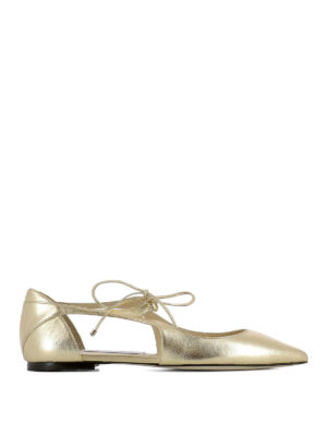 Jimmy Choo: flat shoes - Vanessa Flat leather ballerinas