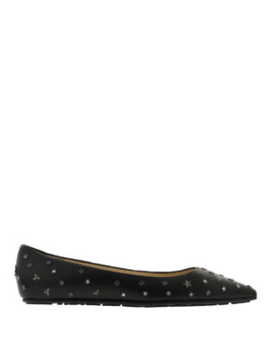 Jimmy Choo: flat shoes - Willis star embellished ballerinas