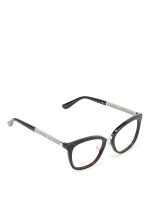 Jimmy Choo: glasses - Glittered temples glasses