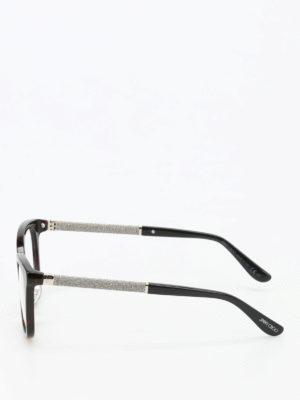 Jimmy Choo: glasses online - Glittered temples glasses