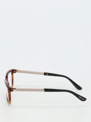 Jimmy Choo: glasses online - Glittered temples tortoise glasses
