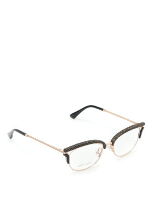 Jimmy Choo: glasses - Shiny cat eye glasses