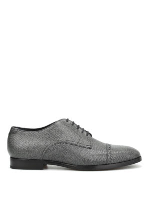 Jimmy Choo: lace-ups shoes - Penn glittered leather Derby shoes