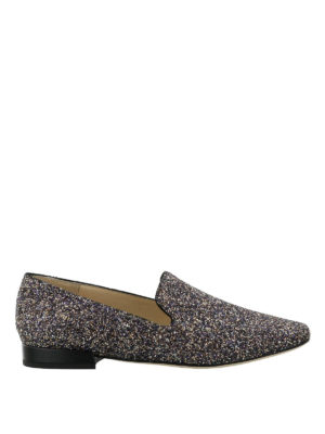 JIMMY CHOO: Mocassini e slippers - Slipper Jaida in tessuto glitter