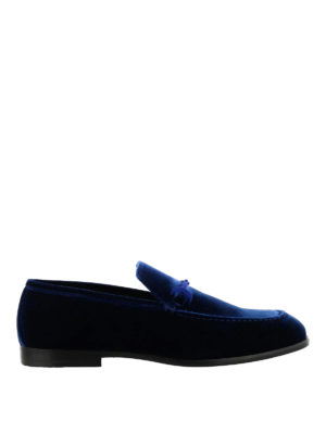 Jimmy Choo: Loafers & Slippers - Marti elegant velvet loafers