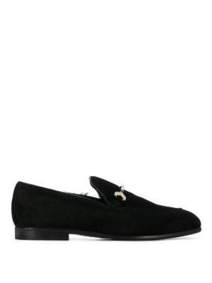 JIMMY CHOO: Mocassini e slippers - Mocassini Marti in suede morsetto in metallo