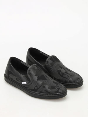 Jimmy Choo: Loafers & Slippers online - Grove camo fabric slippers