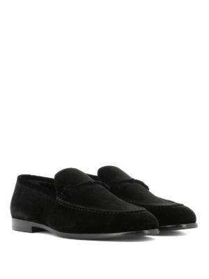 Jimmy Choo: Loafers & Slippers online - Marti black velvet loafers
