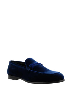 Jimmy Choo: Loafers & Slippers online - Marti elegant velvet loafers