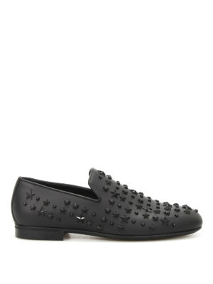 Jimmy Choo: Loafers & Slippers - Sloane studded leather loafers