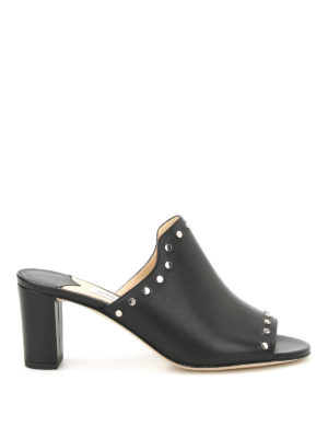 Jimmy Choo: mules shoes - Myla studded leather mules