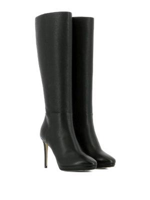 JIMMY CHOO: stivali online - Stivali al ginocchio Hoxton 100 in pelle
